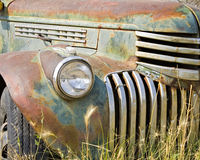 old rusted pickup truck front grille Royalty Free Stock Photography