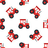 Farm red tractor seamless Royalty Free Stock Photo