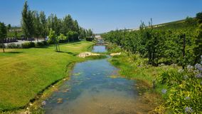 Farm river stream Stock Photo