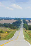 Farm road Stock Image