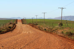 Farm road. A rural dirt farm road Stock Photos