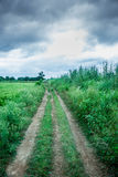 Farm road Royalty Free Stock Photo