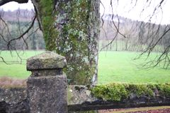 Farm road before winter in Luxembourg. Farm road before winter in  Luxembourg royalty free stock image