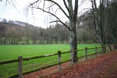 Farm road before winter in Luxembourg. Farm road before winter in  Luxembourg royalty free stock photos