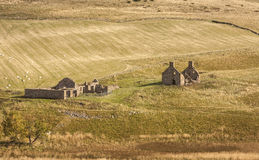 Farm ruins at Glen Deskry in Scotland. Stock Photo