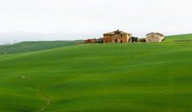 Farm ruins in tuscany stock photo