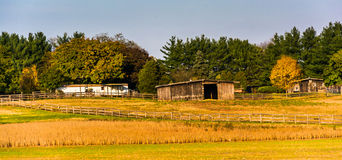 Farm in rural Frederick County, Maryland. Stock Images