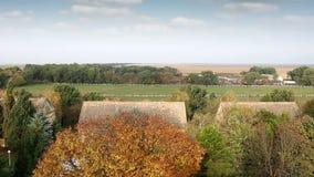 Farm rural landscape. Autumn season stock video