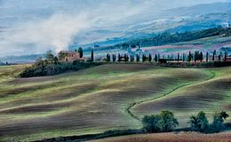 Farm from San Quirico d´Orcia. Farm in San Quirico d´Orcia, Tuscany royalty free stock photography
