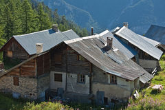 farm in Savoie Royalty Free Stock Photo