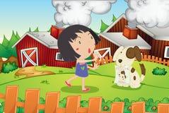 Farm scene Stock Images
