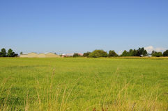 Farm scene - pasture and barns Royalty Free Stock Image