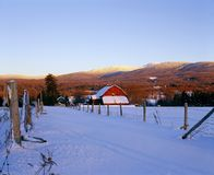 Farm Scene In Winter Stock Image