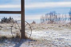 Farm scene in winter Stock Image