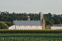 Farm in scenic Lancaster Pennsylvania Stock Photography