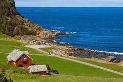 Farm with sea views Stock Photos