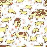 Farm seamless pattern Stock Images