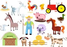 Farm set Royalty Free Stock Images