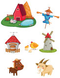 Farm set vector illustration