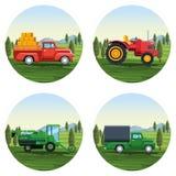 Farm set of cartoons. Round icons vector illustration graphic design vector illustration