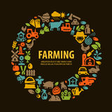 Farm set icons. signs and symbols Stock Image