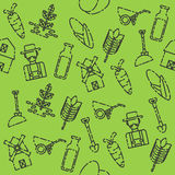 Farm set pattern. Farm pattern with buildings trees animals products and characters in vector illustration Stock Photography