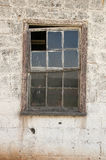 Farm shed window frame Royalty Free Stock Photography