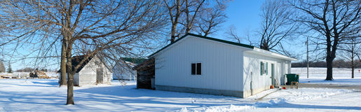 Farm shed in winter Royalty Free Stock Photos