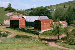 Farm in the Shropshire Countryside in England Stock Photography