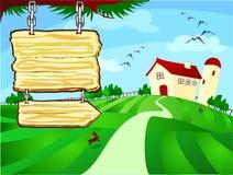 farm sign 免版税库存图片