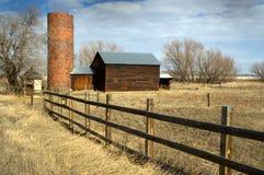 Farm silo and Barn Royalty Free Stock Photo