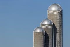 Farm Silo Trio Royalty Free Stock Image