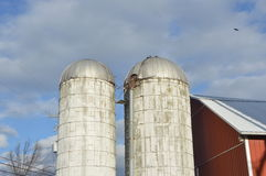 farm silo Royalty Free Stock Photo
