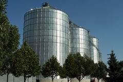 Farm Silos Royalty Free Stock Photos