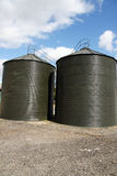 Farm Silos Royalty Free Stock Photo