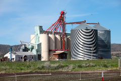 Farm silos barns and agriculture industry, Oregon. Royalty Free Stock Photography