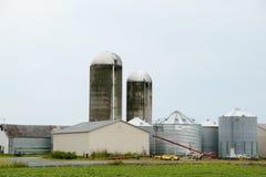 Farm Silos - Quebec - Canada Royalty Free Stock Photos