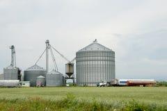 Farm Silos - Quebec - Canada Royalty Free Stock Images