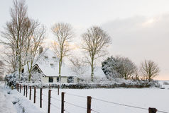 Farm in Snow royalty free stock photo