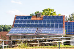 Farm with Solar Energy Stock Image