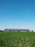 Farm and solar panel Stock Image