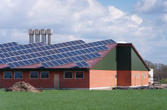 Farm with solar panels Stock Photography