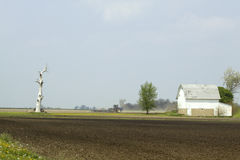 Farm in Spring Royalty Free Stock Photography