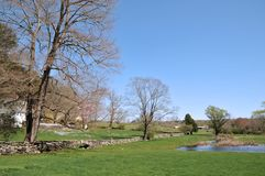 Farm on a Spring Day. Lovely New England farm on a beautiful spring day royalty free stock image