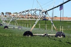 Farm Sprinkler System Royalty Free Stock Photo