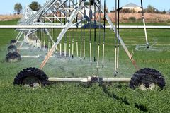 Farm Sprinkler System Royalty Free Stock Images