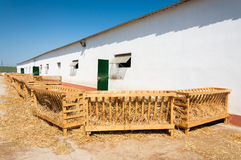 Farm stable and wooden stall Stock Photos