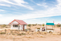 Farm stall on the road between Upington and Keimoes. KEIMOES, SOUTH AFRICA - JUNE 12, 2017: Heksie se Huisie farm stall on the road between Upington and Keimoes royalty free stock images