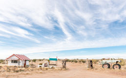Farm stall on the road between Upington and Keimoes. KEIMOES, SOUTH AFRICA - JUNE 12, 2017: Heksie se Huisie farm stall on the road between Upington and Keimoes stock photos