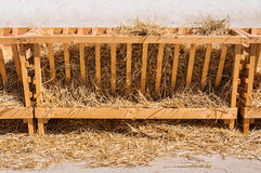 Farm stall with straw and hay Royalty Free Stock Photos
